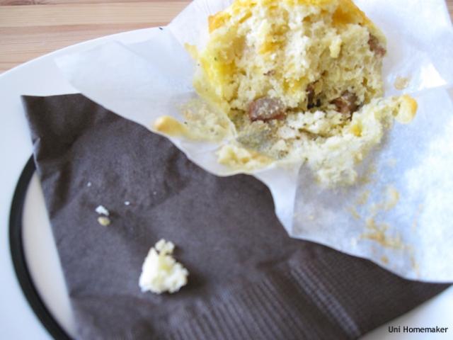 Chorizo Cheddar Muffins