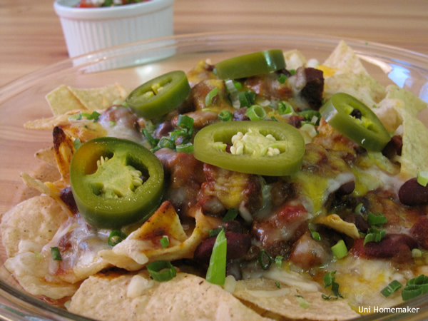 Three Meat Chili Nachos