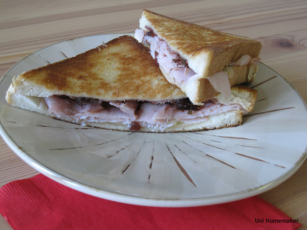 Turkey Cheese Sandwich With Fig Chutney