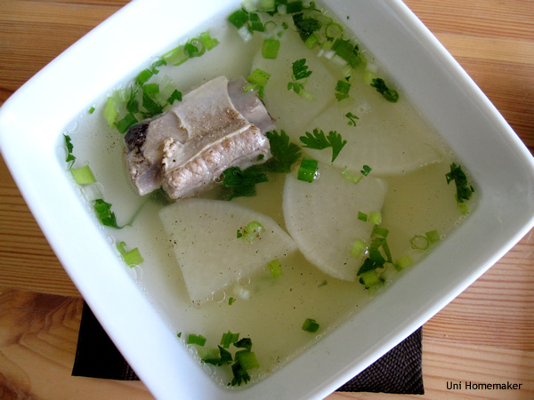 Chinese Pork Sparerib and Daikon Soup