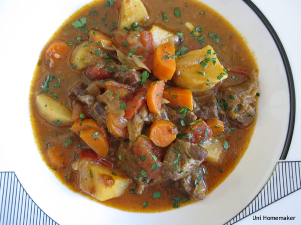 Sweet Potato and Tomato Beef Stew