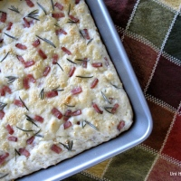 Turkey Bacon and Rosemary Bread