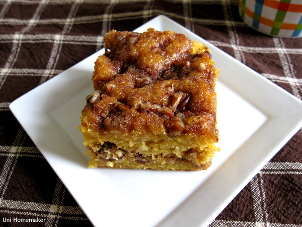 Pumpkin Maple Coffee Cake