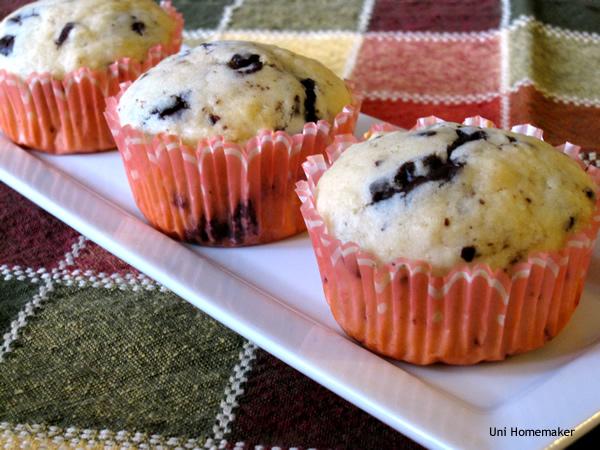 Eggnog and Dark Chocolate Muffins