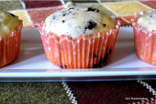 Eggnog and Dark Chocolate Muffins