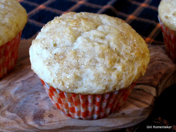 Honey Meyer Lemon Olive Oil Muffins
