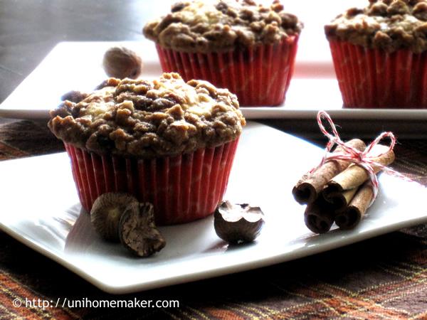 Cranraisin Eggnog Muffins