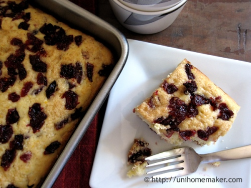 Orange Cranberry Breakfast Cake