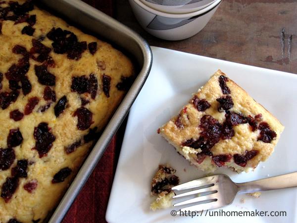 Orange Cranberry Breakfast Cake
