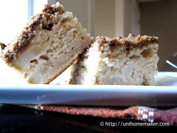 Pear Ricotta Coffee Cake