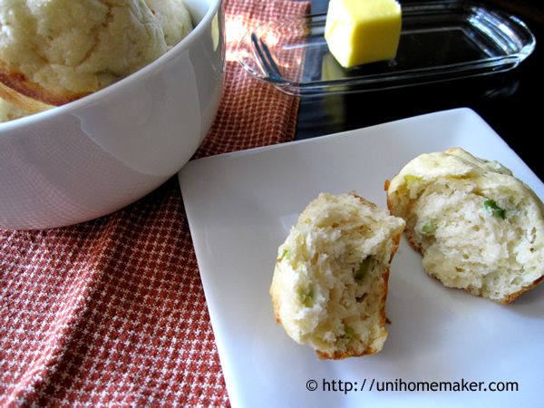 Goat Cheese and Scallion Muffins