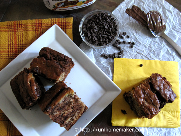 Marbled Nutella Banana Bread