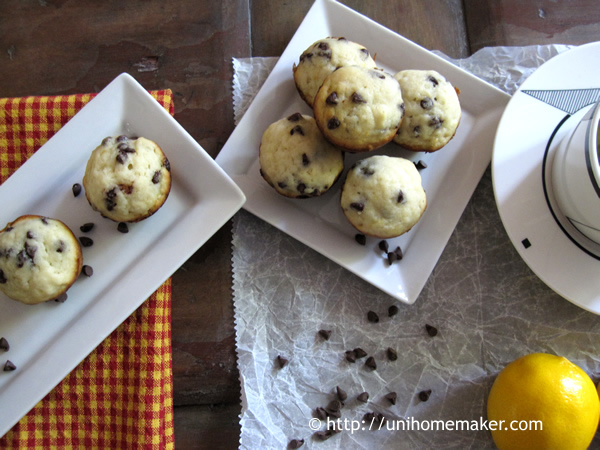 Meyer Lemon Chip Mini Muffins