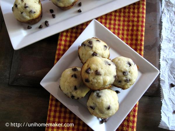 Meyer Lemon Chip Mini Muffins