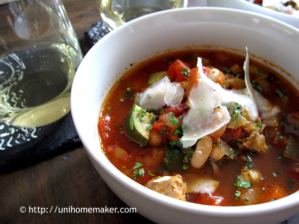 Sausage and Cannellini Bean Minestrone