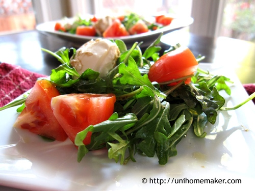 Arugula Tomato and Burrata Salad