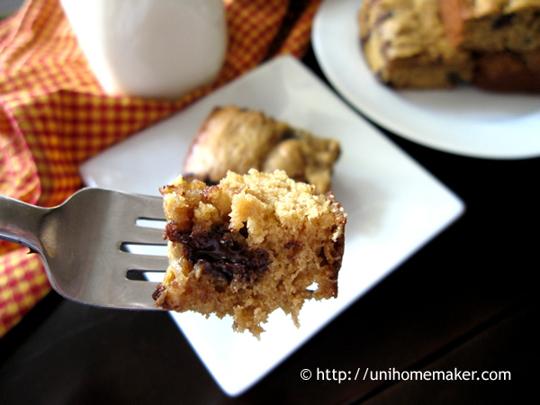 Kahlua Dark Chocolate Chip Cookie Bars