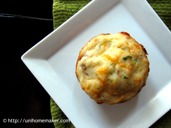 Sausage Cheddar and Maple Muffins