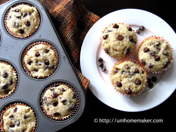 Blood Orange Buttermilk Chocolate Chip Muffins