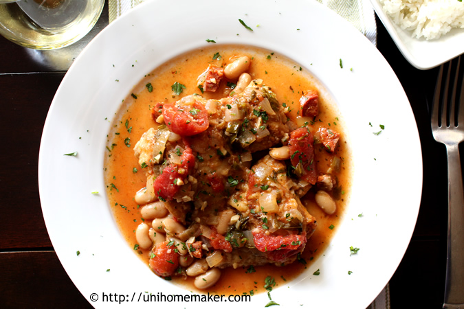 Chicken Stew with Tomatoes and White Beans | Uni Homemaker
