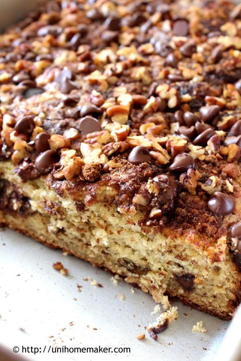 Cinnamon Ricotta Banana Cake