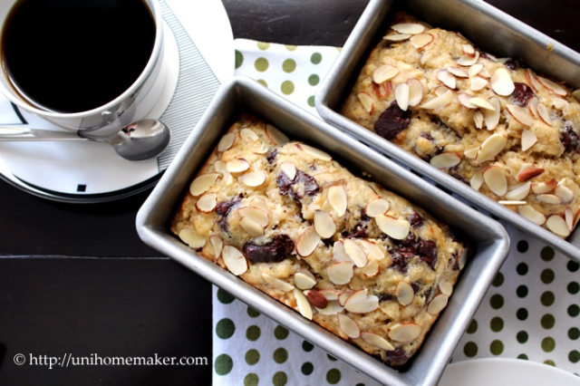 Banana Chocolate Chunk Mini Loaves