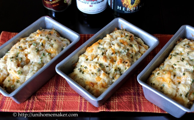 Cheddar & Chive Mini Beer Loaves