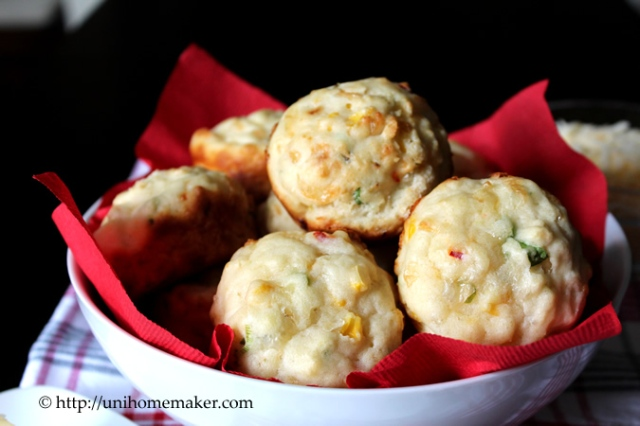 Jalapeno Pepper Jack & Corn Muffins