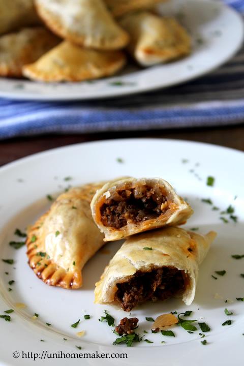Beef Empanadas with Olives and Raisins