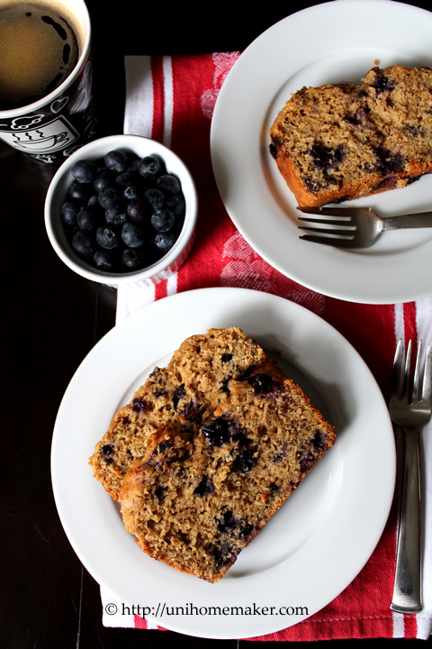 Blueberry Ricotta Yogurt Bread