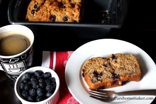 Blueberry Ricotta Yogurt Bread