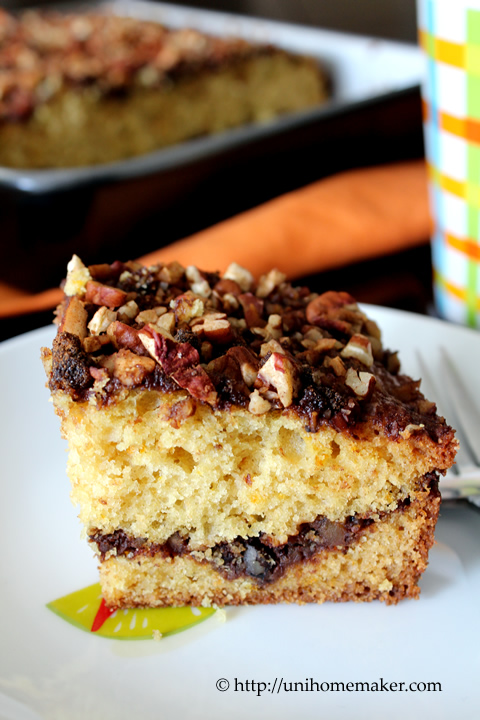 Orange Sour Cream Pecan Cake