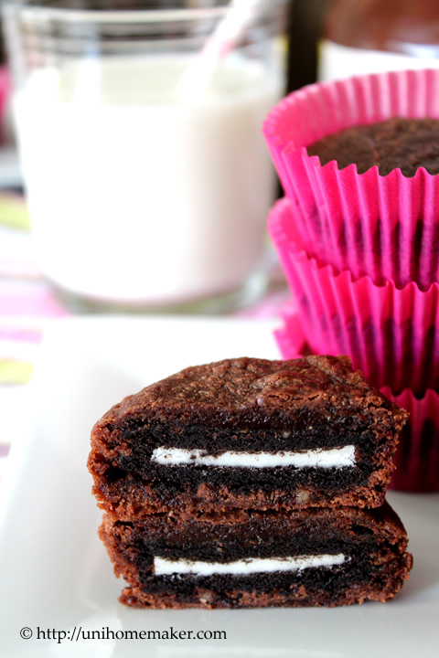 Oreo and Nutella Brownie Bites