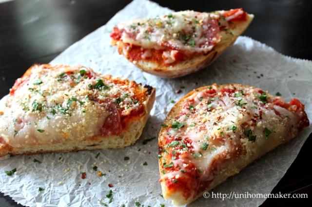 Salami French Bread Pizza