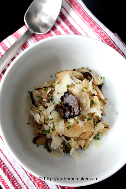 Wild Mushroom Risotto with Summer Truffles