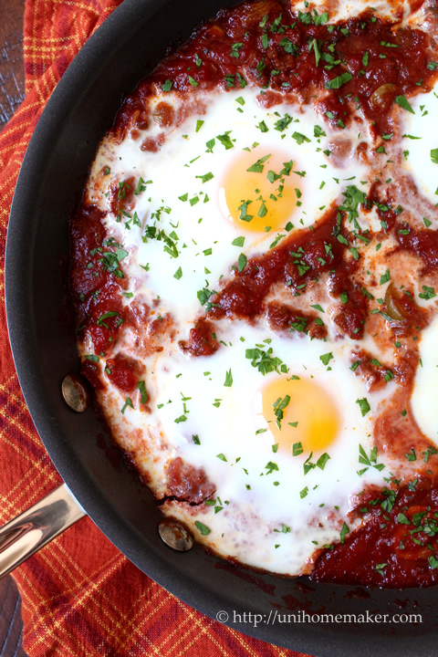 Baked Eggs Picadillo Style
