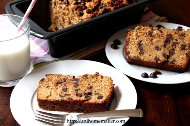 Dark Chocolate Peanut Butter Bread