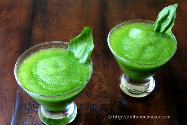 Lemon and Basil Frozen Daiquiri