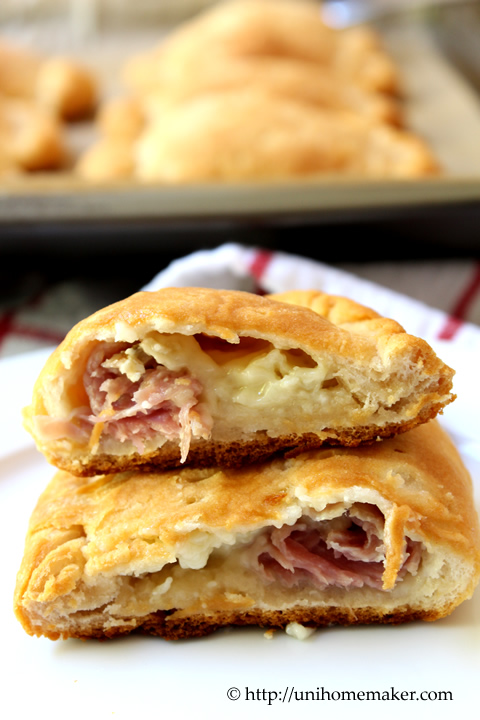 Rosemary Ham and Brie Pockets