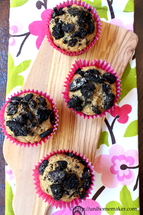 Oreo and Biscoff Muffins