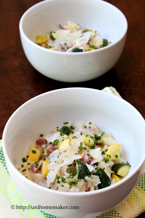 Pancetta and Summer Squash Risotto