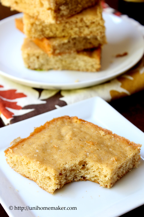 Pumpkin Ale Brown Butter Blondies