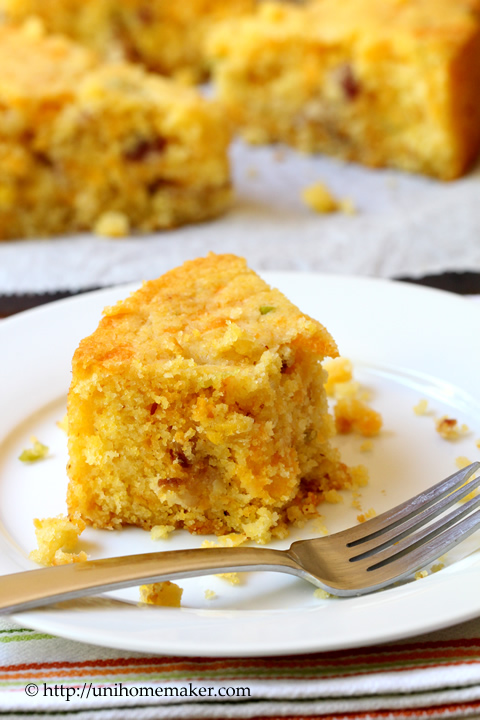 Bacon and Cheddar Cornbread