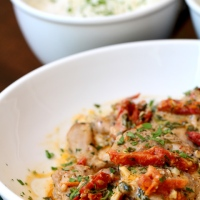 Braised Chicken in Sun-Dried Tomato Cream