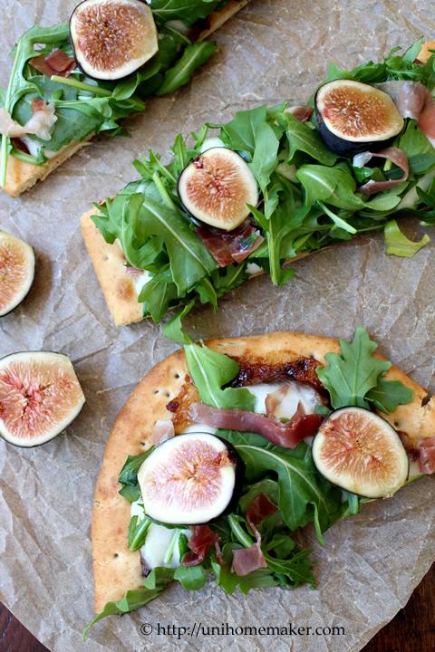Fig Prosciutto and Arugula Flatbread Pizza | Uni Homemaker