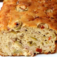 Savory Ham Cheese and Olive Cake