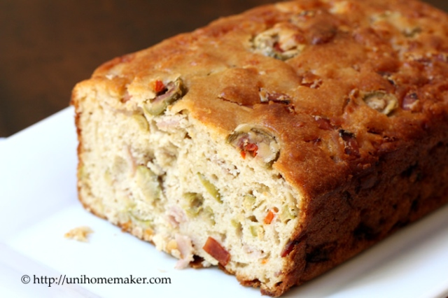 Savory Ham Cheese and Olive Cake