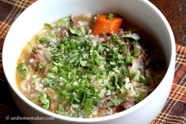 Oxtail Congee (Porridge)