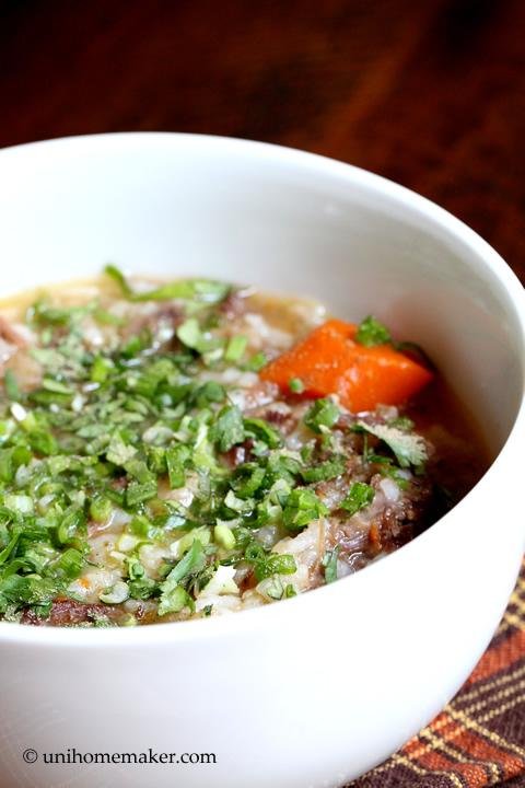 Oxtail Congee (Porridge)