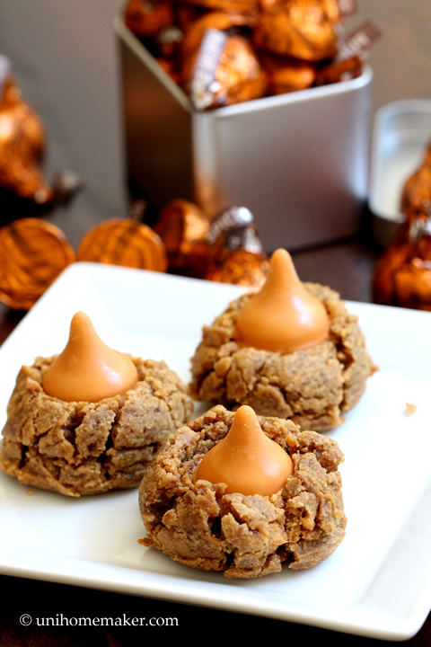 Peanut Butter Pumpkin Spice Kiss Cookies
